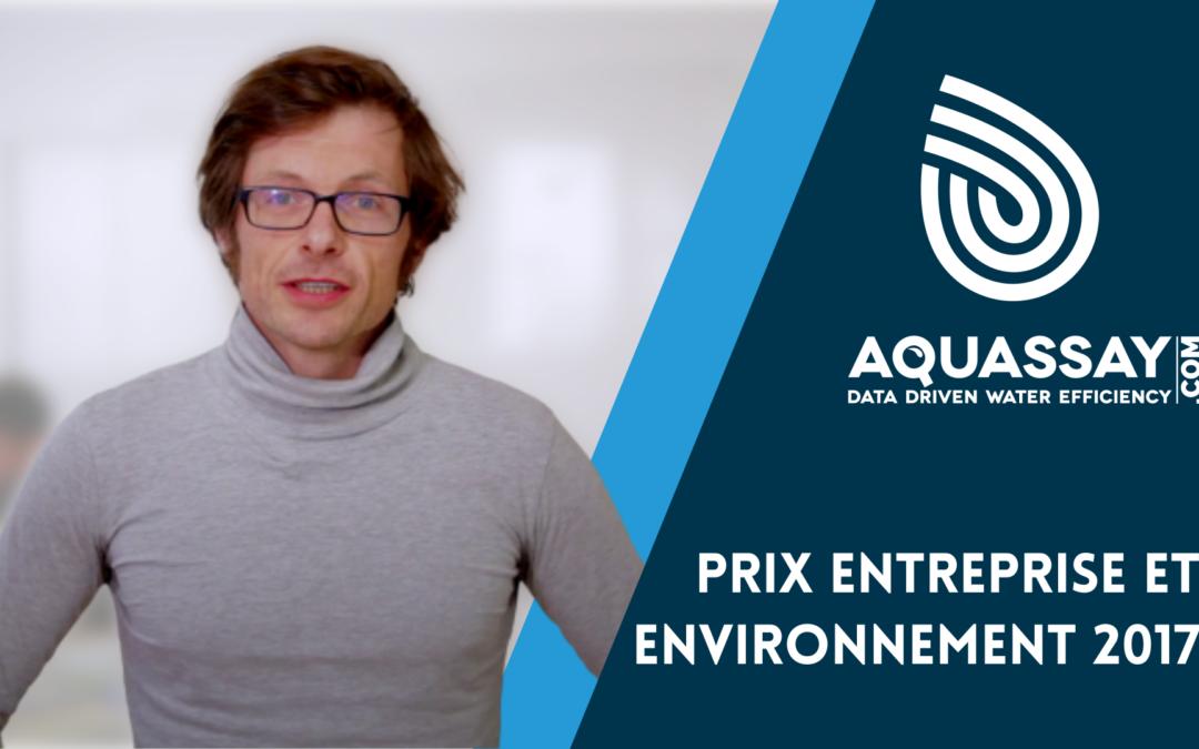 [Vidéo] Grand Prix de l'innovation : Prix entreprise et environnement 2017