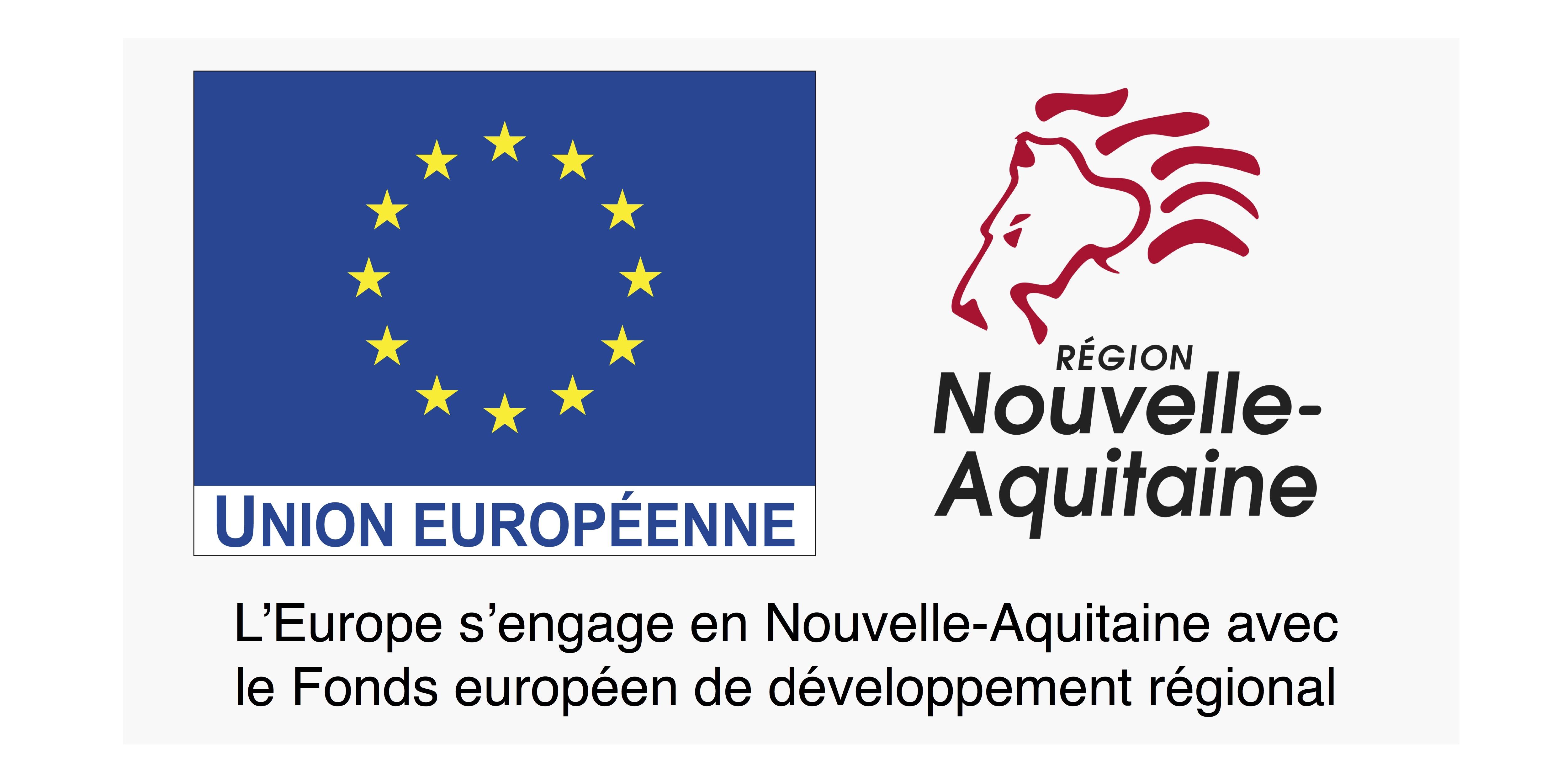 Le projet de dispositif d'efficacité hydrique est cofinancé par l'Union Européenne dans le cadre du FEDER-FSE 2014-2020 et la Région Nouvelle-Aquitaine